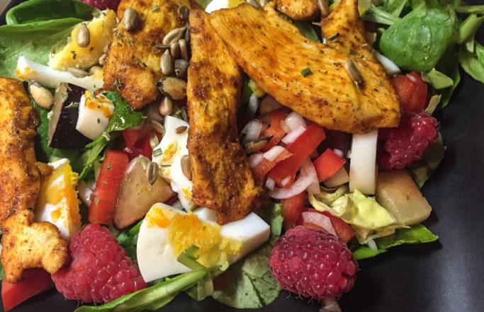 Salat mit Früchten
